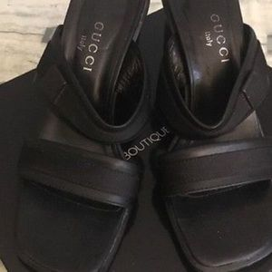 Gucci Shoes - Gucci Black Opened Toed Heels